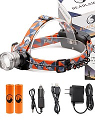 cheap -U'King Headlamps Headlight 2000 lm LED Emitters 3 Mode with Batteries and Chargers Zoomable Adjustable Focus Compact Size High Power Easy Carrying Multifunction Camping / Hiking / Caving Everyday Use