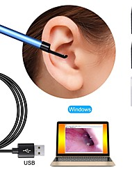 cheap -USB Endoscope Camera 5.5mm Lens Visual Ear Otoscope Inspection Borescope for PC