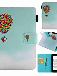 cheap -Case For Amazon Kindle PaperWhite 4 Card Holder / Shockproof / Pattern Full Body Cases Balloon Hard PU Leather