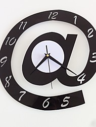 cheap -Modern Style Plastic Irregular Indoor AA Batteries Powered Decoration Wall Clock Mirror Polished No