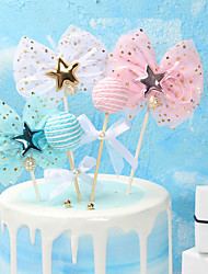 cheap -Cake Topper Classic Theme / Holiday / Wedding Artistic / Retro / Unique Design Fabrics Party / Birthday with Splicing 4 pcs OPP