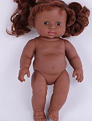 cheap -KIDDING Reborn Doll Girl Doll Baby Girl African Doll 12 inch Full Body Silicone Silicone Vinyl - lifelike Handmade Cute Kids / Teen Kid's Unisex Toy Gift