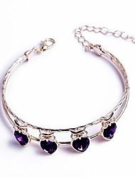 abordables -Manchettes Bracelets Femme Double Tour Elégant simple Bracelet Bijoux Argent Or Rose pour Vacances Travail Festival