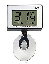 cheap -DC-16 Digital Mini Waterproof LCD Display Aquarium Thermometer + Suction Cup
