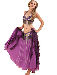 cheap -Belly Dance Bra Tassel Paillette Women's Training Performance Sleeveless Dropped Polyester