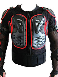Недорогие -мотоцикл автогонки задняя броня защитная куртка красная сторона м