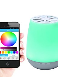 cheap -Mobile APP Controls Intelligent Bluetooth Speaker Lamp Seven-color discolored Bedside Lamp Audio LED Ambient Night Lamp