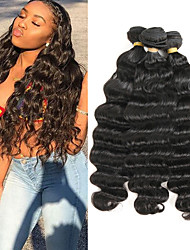 cheap -3 Bundles Brazilian Hair Deep Wave Remy Human Hair Human Hair Extensions 8-22 inch Human Hair Weaves Soft Best Quality New Arrival Human Hair Extensions