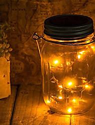cheap -Led Diy Light String Solar Battery Operated Mason Jar Lid Insert Copper Fairy Strip Wire Outdoor Party Decoration Night Lamp