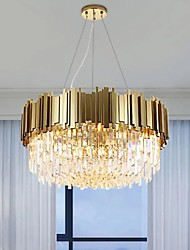 cheap -8-Light 60 cm Chandelier Metal Crystal Painted Finishes Modern 110-120V / 220-240V