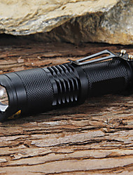 cheap -LED Flashlights / Torch 1200 lm LED LED 1 Emitters 5 Mode with Battery and Charger Adjustable Focus Impact Resistant Strike Bezel Camping / Hiking / Caving Everyday Use Working Black / Aluminum Alloy