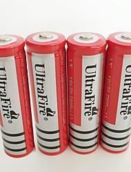 Недорогие -UltraFire BRC батарея излучатели Перезаряжаемый Фонарь Велосипедный свет Налобные фонари Охота Восхождение Походы / туризм / спелеология 4шт