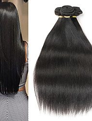 cheap -3 Bundles Brazilian Hair Straight Remy Human Hair Human Hair Extensions 8-22 inch Human Hair Weaves Soft Best Quality New Arrival Human Hair Extensions