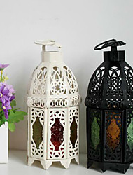 cheap -European-style Wedding Decoration Craft Gifts Retro Tieyi Morocco Colorful Lantern Candlestick