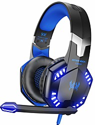 cheap -KOTION EACH G2000 Stereo Gaming Headset for Xbox One PS4 PC,Surround Sound Over-Ear Headphones with Noise Cancelling Mic, LED Lights, Volume Control for Laptop, Mac, PS3, Nintendo Switch Games
