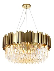 cheap -QIHengZhaoMing 8-Light 60 cm Chandelier Metal Crystal Painted Finishes Modern 110-120V / 220-240V