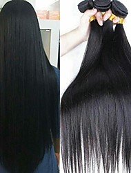 Недорогие -3 Связки Бразильские волосы Прямой 100% Remy Hair Weave Bundles 300 g Человека ткет Волосы Пучок волос One Pack Solution 8-28 inch Естественный цвет Ткет человеческих волос
