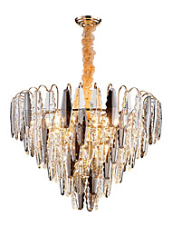 cheap -QIHengZhaoMing 10-Light 60 cm Chandelier Crystal Electroplated Traditional / Classic 110-120V / 220-240V