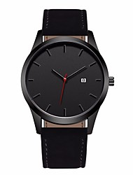 cheap -Men's Sport Watch Dress Watch Quartz Casual Water Resistant / Waterproof Calendar / date / day Casual Watch Analog White  / Silver Black / Silver Black / One Year / Stainless Steel / Leather