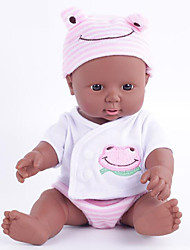 cheap -KIDDING Reborn Doll Baby Boy African Doll 12 inch Full Body Silicone Silicone Vinyl - lifelike Handmade Cute Kids / Teen Kid's Unisex Toy Gift