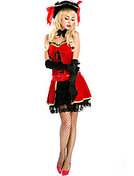 cheap -Spanish Lady Costume Adults' Women's Flamenco Halloween Carnival Valentine's Day Festival / Holiday Lace Plush Fabric Red Women's Carnival Costumes Lace / Top / Gloves / Hat / Neckwear