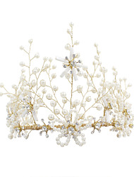 cheap -Imitation Pearl Tiaras with Imitation Pearl 1 Piece Wedding / Party / Evening Headpiece