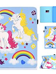 cheap -Case For Apple iPad New Air(2019) / iPad Air / iPad 4/3/2 Card Holder / with Stand / Flip Full Body Cases Unicorn / Cartoon Hard PU Leather / iPad Pro 10.5 / iPad (2017)