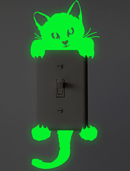 cheap -Light Switch Stickers - Luminous Wall Stickers Animals Living Room / Bedroom / Bathroom