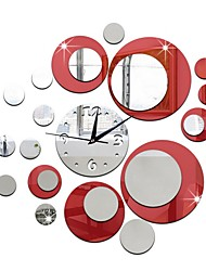 cheap -Modern Style Plastic Irregular Indoor AA Batteries Powered Decoration Wall Clock Yes Mirror Polished No