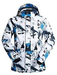 cheap -Men's Ski Jacket Ski / Snowboard Winter Sports Waterproof Windproof Breathable Rayon Terylene Winter Jacket Top Ski Wear / Warm