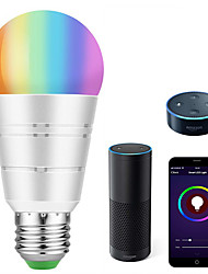 cheap -Smart Led Light Bulb WiFi Smart BulbsRGB White Dimmable Colored Smartphone Controlled Daylight White Night Light No Hub Required Works with Amazon Echo Alexa Google Home