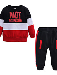 cheap -Baby Boys' Casual / Basic Daily / Sports Print / Fruit Long Sleeve Regular Regular Cotton Clothing Set Green / Toddler