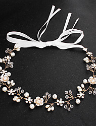 cheap -Alloy Hair Accessory with Imitation Pearl / Crystals 1 Piece Wedding / Special Occasion Headpiece