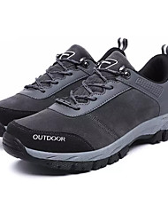 cheap -Men's Comfort Shoes Faux Leather Spring & Summer Sporty Athletic Shoes Hiking Shoes Non-slipping Black / Gray