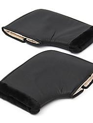 abordables -poignée de moto hiver manchons chauds gants de protection imperméable noir