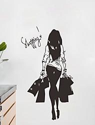Недорогие -Декоративные наклейки на стены - Люди стены стикеры Пейзаж Гостиная / Спальня / Кухня