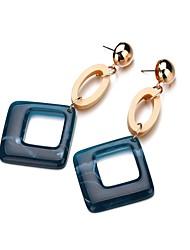 cheap -Women's Drop Earrings Geometrical Stylish Resin Earrings Jewelry Dark Blue For Party Causal 1 Pair