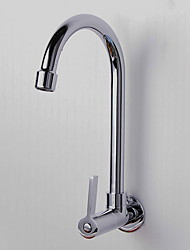 cheap -Kitchen faucet - Single Handle One Hole Electroplated Standard Spout / Tall / ­High Arc Wall Mounted Ordinary Kitchen Taps / Brass