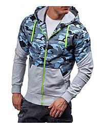 cheap -Men's Basic Hoodie - Camouflage Green XL