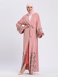 cheap -Adults' Women's A-Line Slip Ethnic Arabian Dress Abaya Kaftan Dress Jalabiya Muslim Dress Maxi Dresses For Halloween Daily Wear Festival Sequin Polyster Sequin Long Length Dress 1 Belt