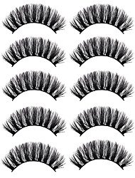 cheap -Eyelash Extensions 10 pcs Handmade Cute Soft Soft Beauty Thick Animal wool eyelash Party Birthday Daily Wear Crisscross Thick Natural Long - Makeup Daily Makeup Glamorous & Dramatic High Quality