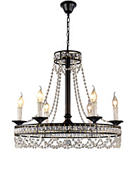 cheap -QINGMING® 6-Light 60 cm Crystal / Mini Style Chandelier Metal Mini Painted Finishes Retro / Country 110-120V / 220-240V
