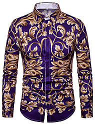 cheap -Men's Graphic Long Sleeve Formal Tops Picture color