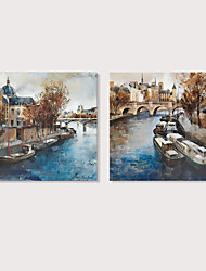 cheap -Print Stretched Canvas Prints - Landscape Abstract Landscape Modern Art Prints