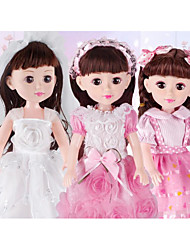 cheap -Girl Doll Fashion Doll Talking Toy Baby Girl 18 inch Silicone - Smart lifelike Kids / Teen Kid's Unisex Toy Gift