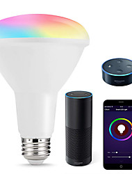 cheap -Smart LED Bulbs Multicolored WIFI LED Lights BR30 Dimmable Recessed Light Bulbs 75W-80W Equivalent Flood Light Compatible with Amazon Alexa and Google Assistant