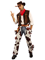 cheap -Westworld West Cowboy Cowboy Costumes Adults' Men's Outfits Christmas Halloween Carnival Festival / Holiday Polyster Coffee Carnival Costumes Printing
