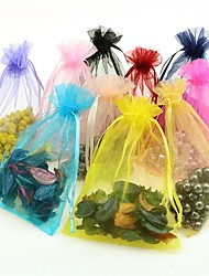 cheap -10Pcs Drawable Small Organze Bags Gift Bag Jewelry Packaging Bags Random Color