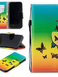 cheap -Case For Apple iPhone XR Wallet / Card Holder / Shockproof Full Body Cases Butterfly Hard PU Leather