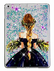 cheap -Case For Apple iPad Air / iPad (2018) / iPad Air 2 Flowing Liquid / Pattern Back Cover Sexy Lady / Glitter Shine Hard PC / iPad (2017)